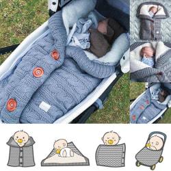 Babysovväska kuvert Vinterbarnsängsäckfot för S Dark gray