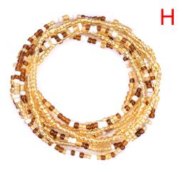 Bohemiska färgglada dubbla rader pärlor Kroppskedjor Belly Waist Beac H