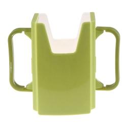 Bottle Cup Milk Holder Adjustable Safety Plastic Baby Toddler Ju Green