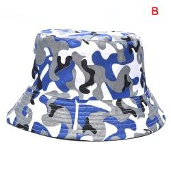 Kamouflage Dubbelsidig mössa med tryck Hink Hat Fisherman Sun Hats