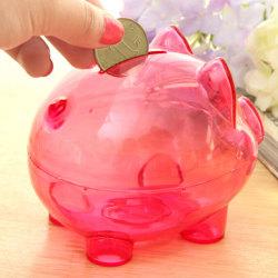 Klar spargris myntpengar plast fortfarande besparingar leksak kassaskåp Rose