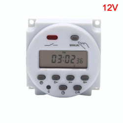 CN101A 12V 24V 110V 240V Digital LCD Power Timer Switch Relay 12V