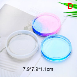 Coaster Resin Silicone Cup Mat Pad Mold Jewelry Making Epoxy Mou D