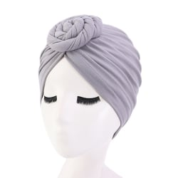 Bomullshuvudhuvud Hårkappar Wrap Styling Cover Salon Elastisk B Gray