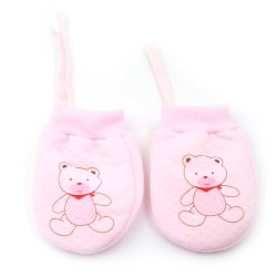 Cute Baby Infant Boys Girls Anti scratching Mittens Soft Newborn Pink 1