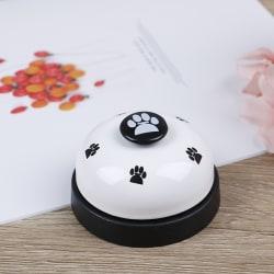 Söt husdjursträning klockhundleksaker Puppy Pet Call Dog paw print ri White onesize