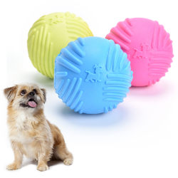 Dog Pet Puppy Fetch Chew Toy Durable Rubber Ball Fits Launcher  Multicolor 2.56inch