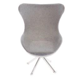 Dollhouse flocking sofa armchair flocking sofa high back chair  Gray