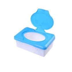 Torrt och vått vävnadspappersfodral Care Babyservetter Servettförvaringslåda Blue