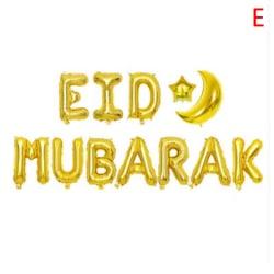 Eid Mubarak Balloons Ramadan Kareem Decor Star Moon Eid Balloon E