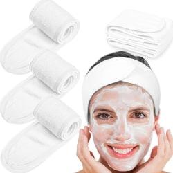 Face Headbands Makeup Velcro 8 Kinds Pure Color  Shower Yoga Sp White