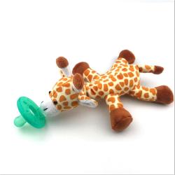 Fashion Baby Pacifier Silicone Pacifiers With Plush Toy Giraffe  Giraffe