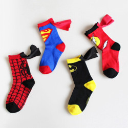 Kid''s socks cloak superman spiderman boys girls cosplay sports flashman