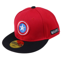 Kids Captain America Embroidery Cotton Baseball Cap Snapback Hat Red
