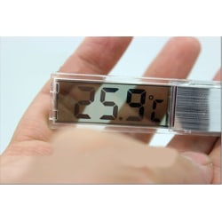 LCD 3D Crystal Digital Electronic Aquarium Thermometer Fish Tan Silver