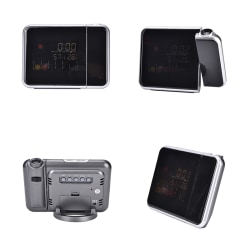 LCD Digital LED Projector Projection Alarm Clock Weather Statio
