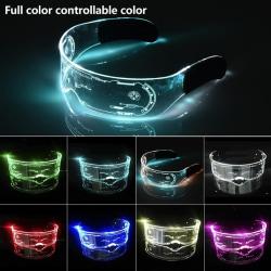 LED Glasses EL Wire Neon Party Luminous LED Glasses Light Up Gl A