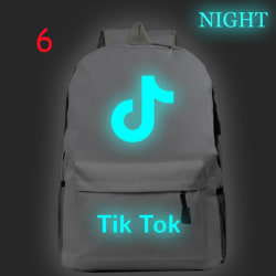 Luminous Tik Tok Starry Sky Backpack Student Backpack Laptop Bac 6