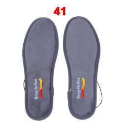 Men Women Winter Heated Insoles Skiing USB Charging Shoes Pad 41