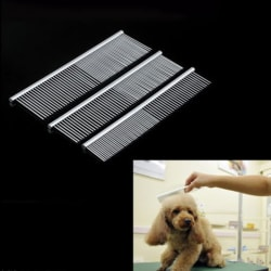 New Pet Puppy Dog Cat Stainless Steel Comb Long Hair Shedding G