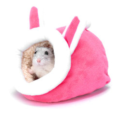 Pet Cage for Hamster Accessories Pet Bed Mouse Cotton House Sma Pink