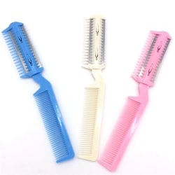 Pet Hair Trimmer Comb 2 Razor Rakes Cutting Grooming Clean Tool onesize
