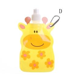 Portable Eco Friendly Foldable Cartoon Animal Water Bag Kids Tra D