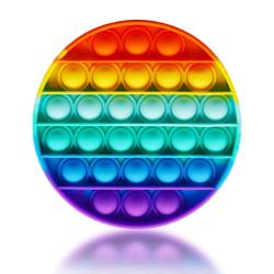 Push Pop Bubble Fidget Sensory Toy MultiColor Round