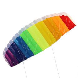 Rainbow Sports Beach Kite Power Dual Line Stunt Parafoil Parach