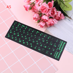 Russian standard keyboard layout sticker letters on replacement A5