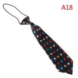 Satin färgglada elastisk halsband för bröllop prom pojkar barn