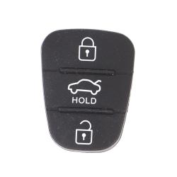 silikon 3-knapps knappsats skal nyckel för hyundai kia B