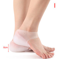 Silicone Invisible Inner Height Insoles Outdoor Foot Protection  6CM