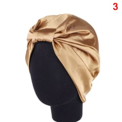Silk Women Sleep Shower Cap Elastic Hair Care Bonnet Headwrap H 3