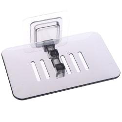 Single Layers Suction Box Kitchen Tools Soap Dish Suction Holder Black