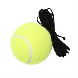 Tennis Training Tool Exercise Tennis Ball Self-study Rebound Bal Yellow C
