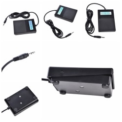 Universal Foot Sustain Pedal Controller For Electronic Piano Gu black