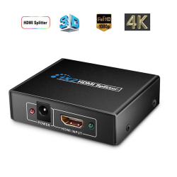 USA 1×2 HDMI Splitter v1.4D View 4K 3D 1080p One Input to Two Ou