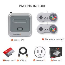 Video Game Console Arcade Kids Retro Game Emulator Pre-install  EU+128g+SNES handles