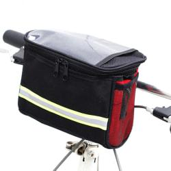Vattentät cykelcykel Motorcykelväska Väska Styr Mou Red