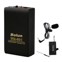 Wireless FM Transmitter Receiver Lavalier Lapel Clip Microphone