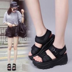 Women''s Fashion Sandals Summer Women Sandal Shoes Woman Wear-r Black 36