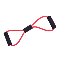 Yoga Resistance Bands 8-shaped Chest Expander for Body Building Red
