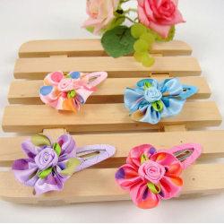1 PAR Barn, Flickor prinsessan blomma hårspännen, Håraccessoarer ljusROSA