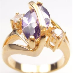18K Guldfyllda Guld Filled gulddoublé Ring  18