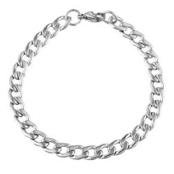316L rostfritt stål Armband 6mm silver