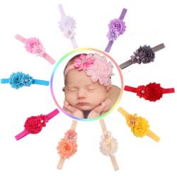 Baby hårband Princess flicka BLOMMA l.gul