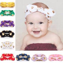 Baby hårband Princess flicka imitation Kanin GUL