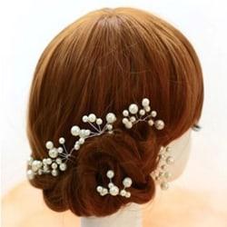 Bröllop brud kristall pärla hårnål 3 ST PACK