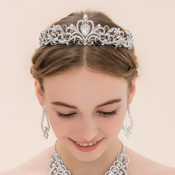 Bröllop hår krona tiara